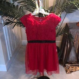 Lg kid girl dress Red with black around the waist
